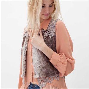 Gimmicks By BKE Faux Fur Vest Size Medium